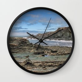Hartland Quay Coast Wall Clock