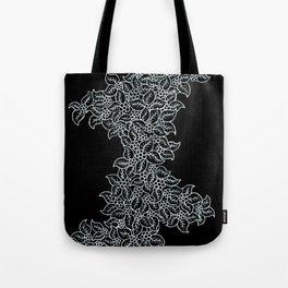 White Floral Pattern Tote Bag