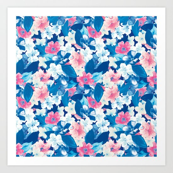 Bloom Blue Art Print