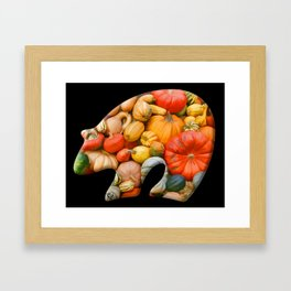 Autumn Bear Framed Art Print