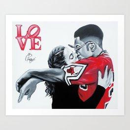 Black Love- Dwayne & Whitley Art Print