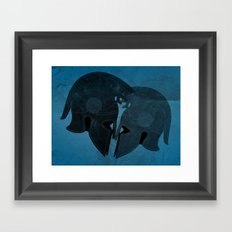 Helmet love Framed Art Print