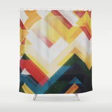 Mountain of energy Shower Curtain