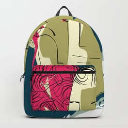 Man and Woman Lovers Art Print Backpack