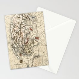 World map by Martin Waldseemüller - 1513 Stationery Cards