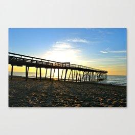 North Carolina Pier Canvas Print
