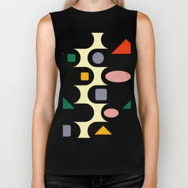 Geometric abstraction  #society6 #decor #buyart #artprint Biker Tank