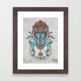 DURGA Framed Art Print