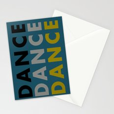 Dance Until You're Dead or Deceased in Teal Stationery Cards