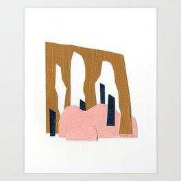 Paper landscape 1 Art Print