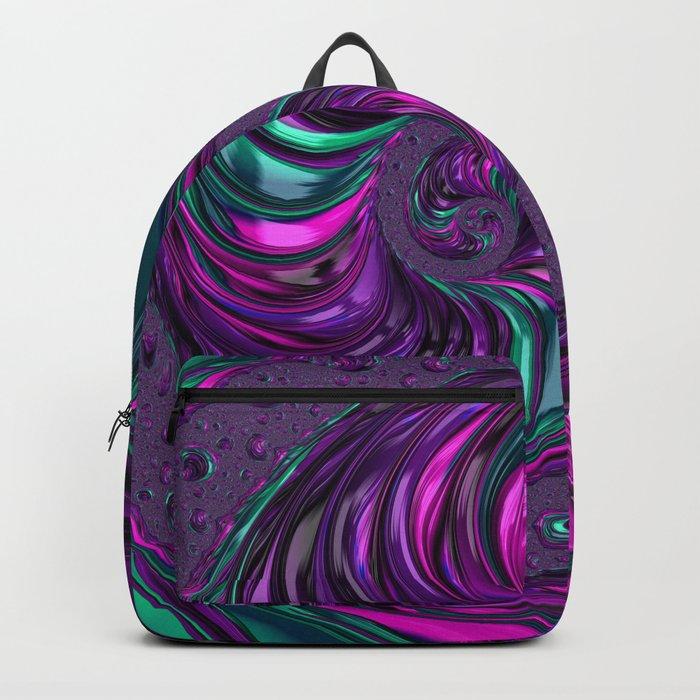 Jewel Tone Fractal Spiral Backpack