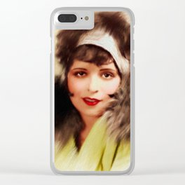 Clara Bow, Vintage Actress Clear iPhone Case