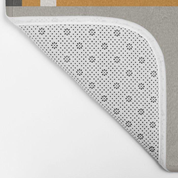 PLUGGED INTO LIFE (abstract geometric) Bath Mat
