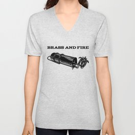 Brass and Fire Pressure Stove Unisex V-Neck