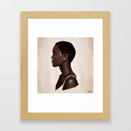 Elf Portrait Framed Art Print