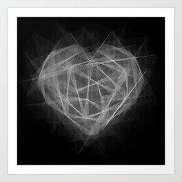 Coração Transcrito 2 Art Print