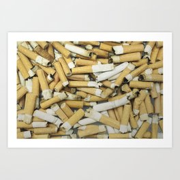 Cigarette butts dirty Art Print