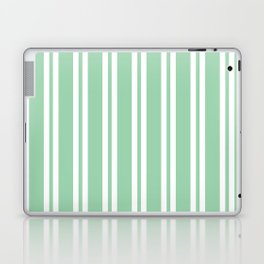 Mint Green Wide Small Wide Stripes Laptop & iPad Skin