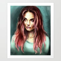teal Art Prints featuring Teal by Lily Fitch