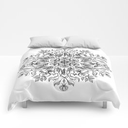Thrive - Monochrome Mandala Comforters