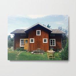 Hus I Dalarna Metal Print