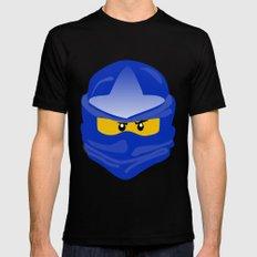 Ninjago face Jay  MEDIUM Mens Fitted Tee Black