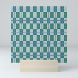 SAINT PATRICK'S DAY CHECKERED PATTERN Mini Art Print