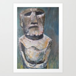 rapa nui Art Print