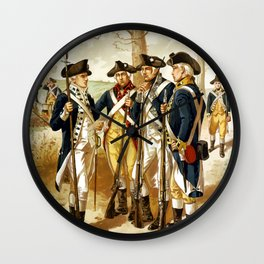 Infantry Of The Revolutionary War Wall Clock