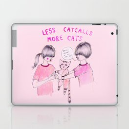 Less Catcalls, More Cats Laptop & iPad Skin