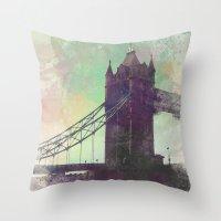 bridge Throw Pillows featuring Bridge by Nechifor Ionut