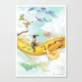 Korra and Spirits Canvas Print