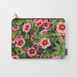 Red Pink Flowers Carry-All Pouch