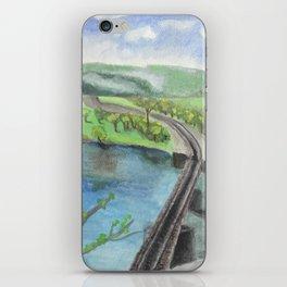 Railroad Across a River iPhone Skin