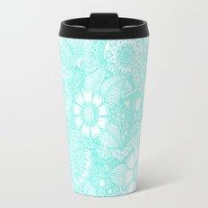 Henna Design - Aqua Travel Mug