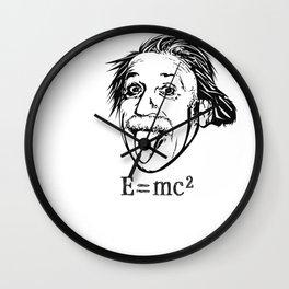 Albert Einstein With E=mc2 Wall Clock