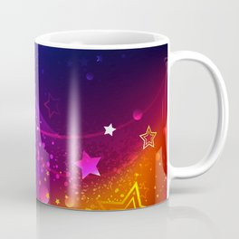 Bright Abstract Background with Stars Coffee Mug