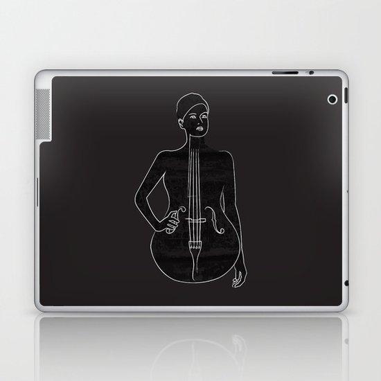THE DOUBLE BASS GIRL Laptop & iPad Skin