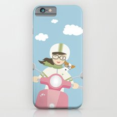 Scooter Girl with Dog Illustration Slim Case iPhone 6s