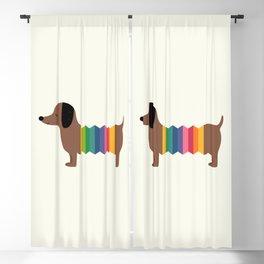 Rainbow Dooooog Blackout Curtain