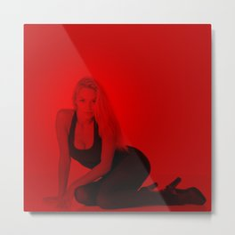 Pamela Anderson - Celebrity (Photographic Art) Metal Print