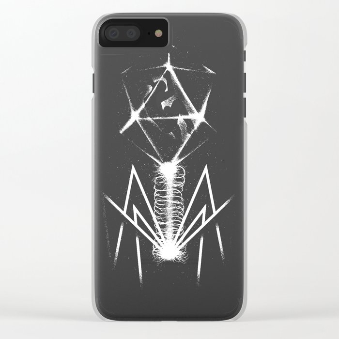 Human Virus Clear iPhone Case