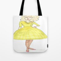 60s Tote Bags featuring 60s by A.S.M Designs