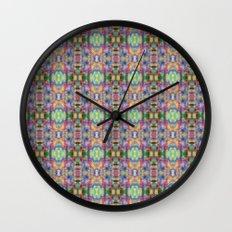 Acid Rain Detail Pixel Wall Clock