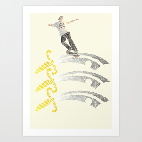 essex skateboarding  Art Print