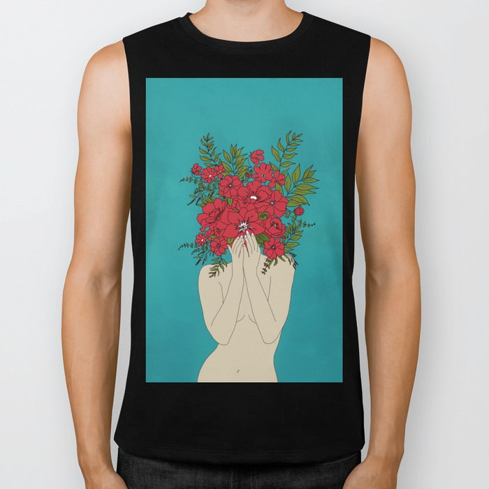 Blooming Red Biker Tank