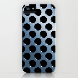 Cool Steel Graphic Art Like Polka Dots iPhone Case