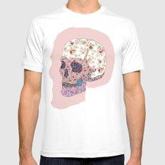 Liberty Skull White MEDIUM Mens Fitted Tee