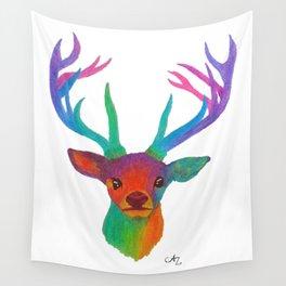 Rainbow Deer Wall Tapestry