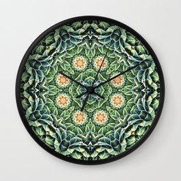 Succulent Splendor Wall Clock